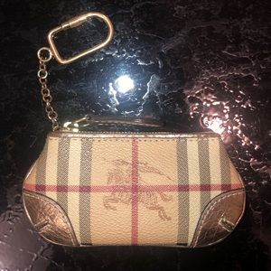 BURBERRY - LEATHER ZIP COIN CASE